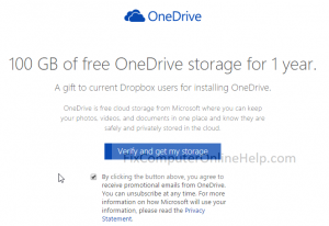 guide to get free onedrive storage