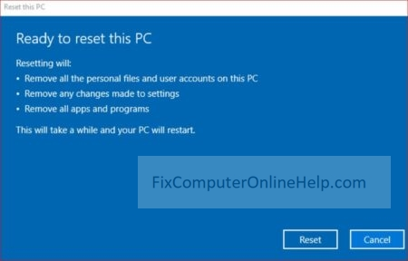 5 - reset this pc ready to reset this pc