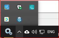 bottom right taskbar - background programs
