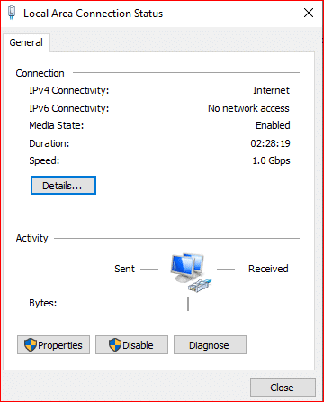 local area connection status