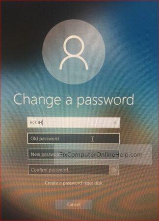 lock screen - change a password
