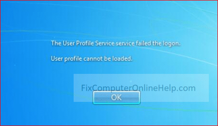 the user profile service failed the logon - user profile cannot be loaded