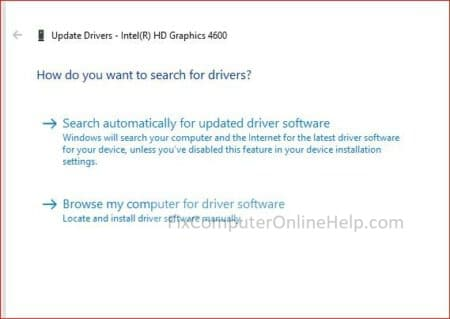 device manager - how do you want to search for drivers